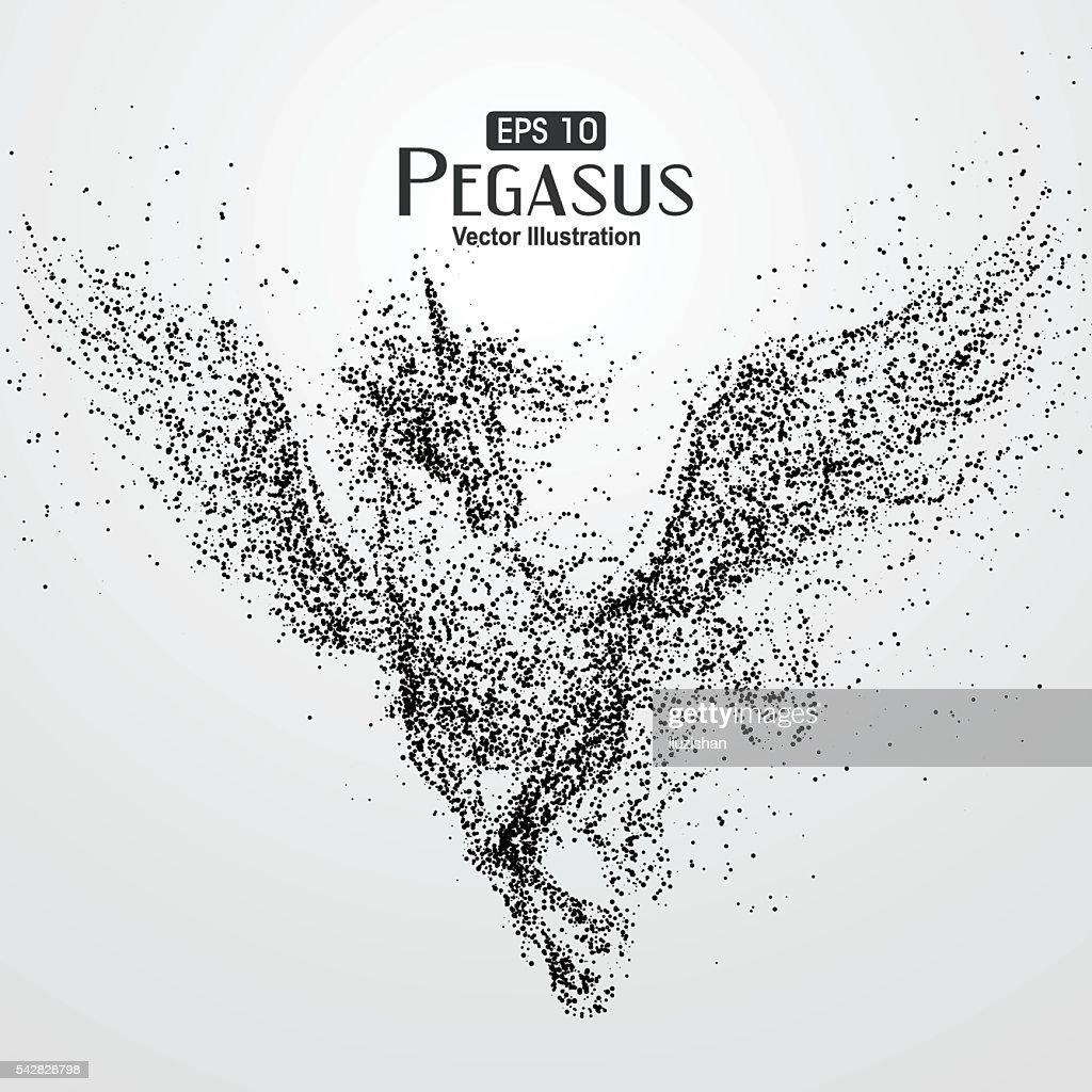 Pegasus,particle divergent composition Galloping horse.