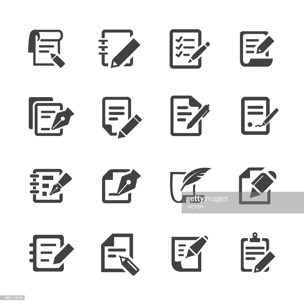 Pen and Paper Icons - Acme Series : stock illustration