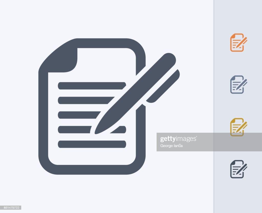 Pen & Document - Carbon Icons