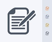 Pen & Document - Carbon Icons