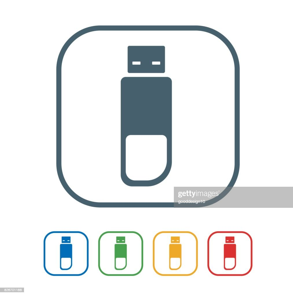 Pen drive flat Icon Isolated on White Background.vector illustration icon