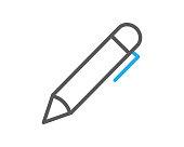 pen line icon illustration vector,pen icon illustration vector,pen line website icon