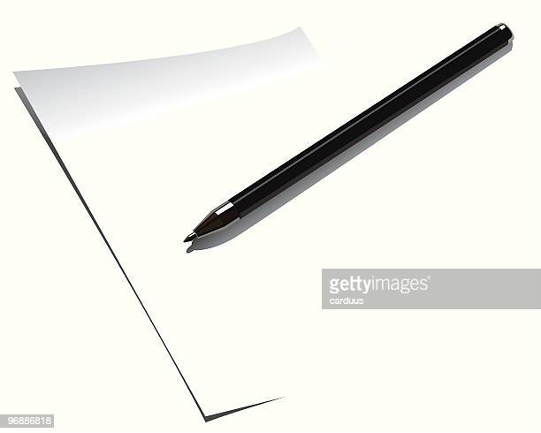 pen - ballpoint pen stock illustrations, clip art, cartoons, & icons