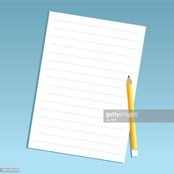 Potlood en papier