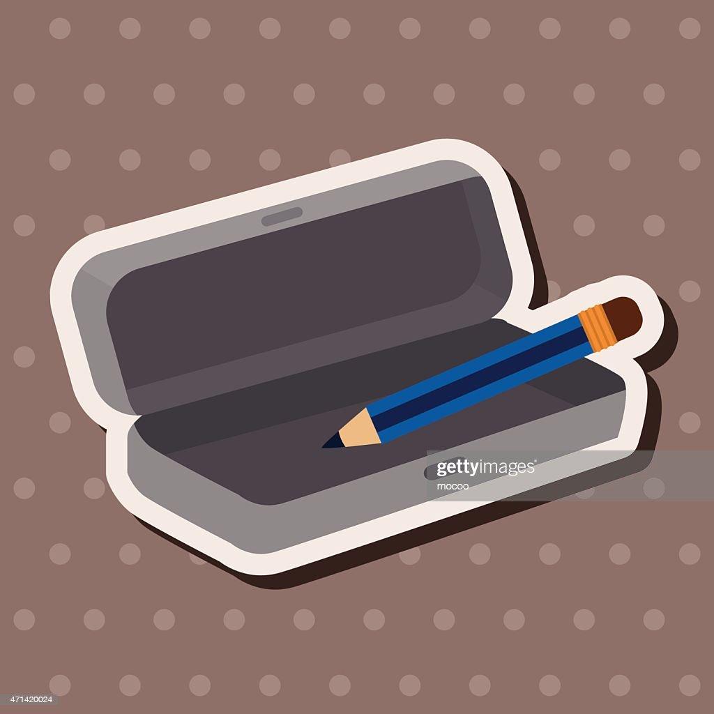 Pencil case theme elements