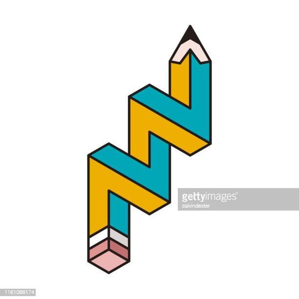 鉛筆設計不可能な幾何学形状 - クリエイティブな職業点のイラスト素材/クリップアート素材/マンガ素材/アイコン素材