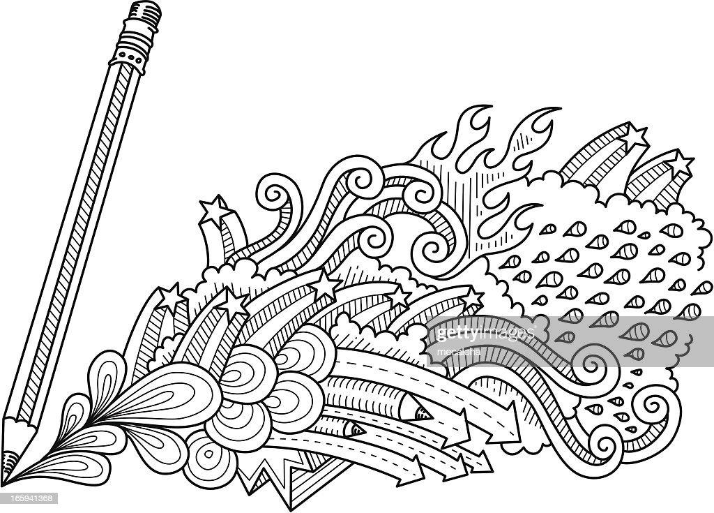 pencil doodles stock vector