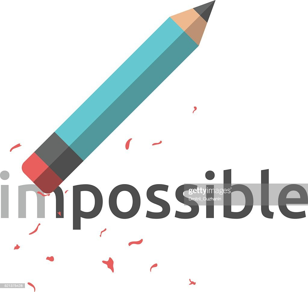 Pencil erasing word impossible