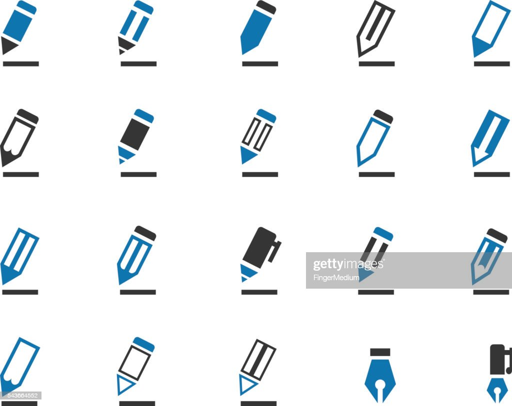 Pencil icon set