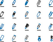 Pencil icon set
