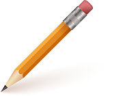 Pencil Isolaed on White Background Vector