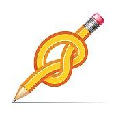 pencil knot