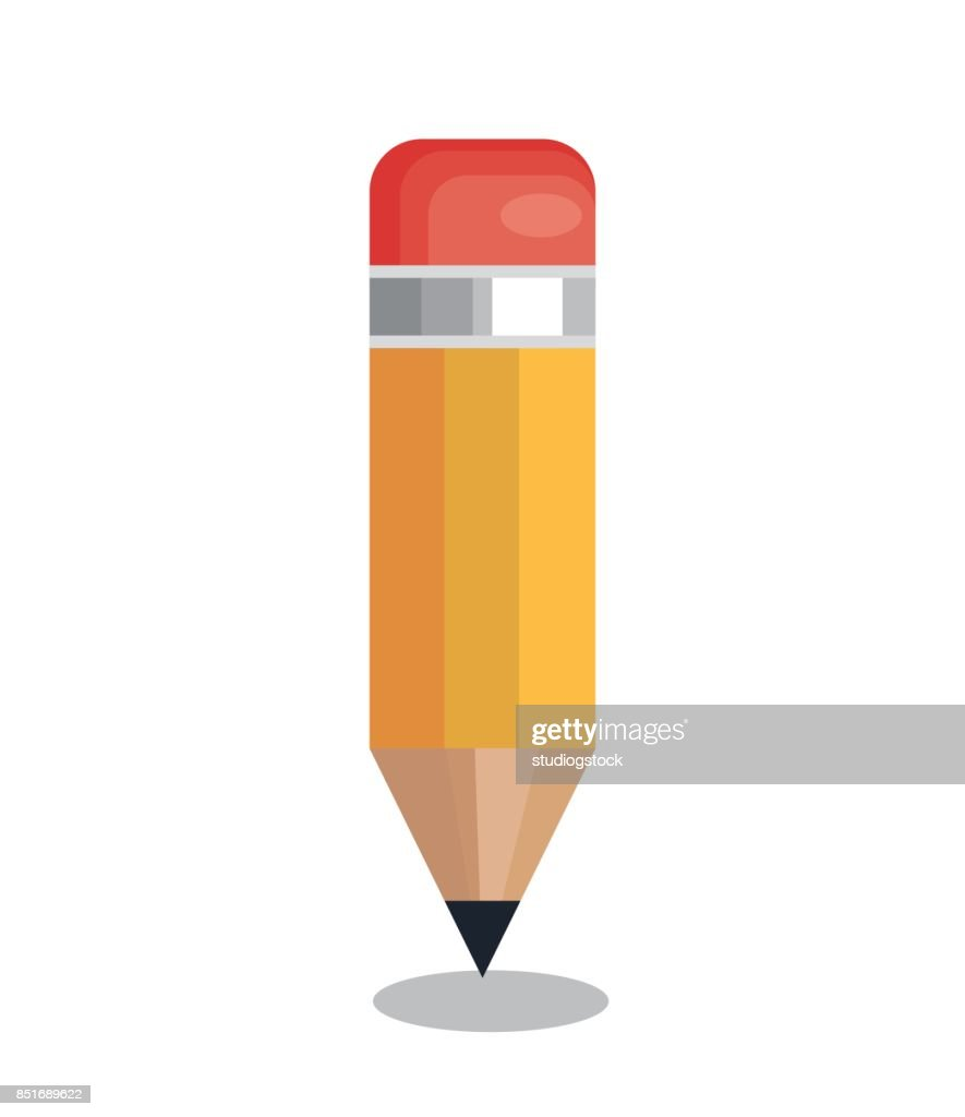pencil school supply isolated icon