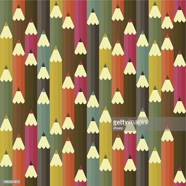Pencil seamless pattern