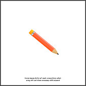 Pencil vector icon. Pencil for your design on white isolated background.