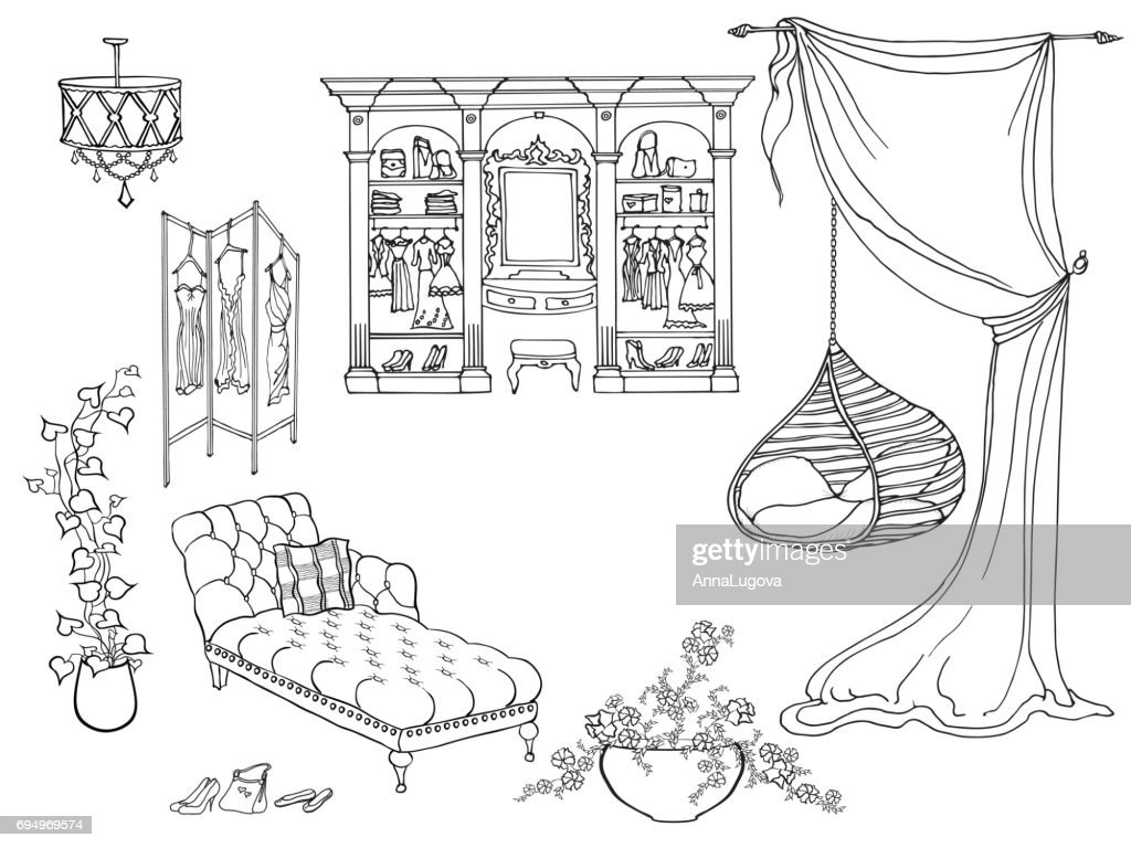 Pendant chair lady dressroom