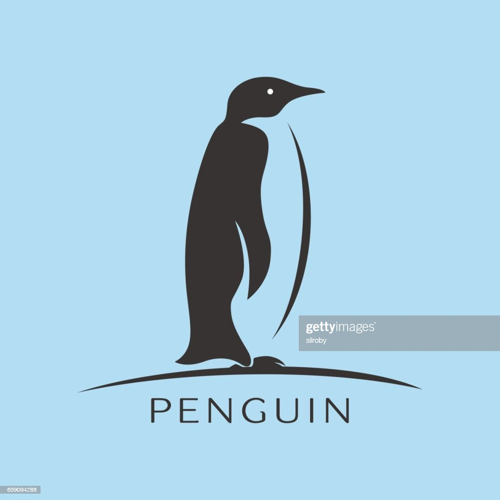 Penguin icon vector, flat sign