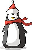 penguin whit scarf and hat