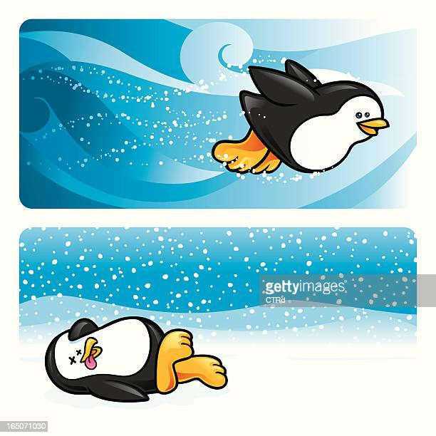 penguins - webbed foot stock illustrations, clip art, cartoons, & icons