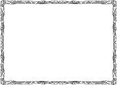 Penmanship of a curly baroque black frame
