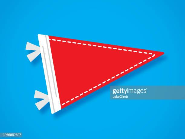 pennant flag flat - pennant stock illustrations
