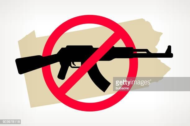 Pennsylvania No arma violencia Vector Poster
