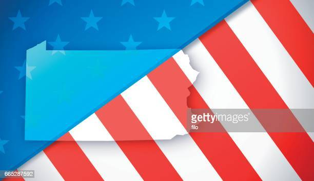 pennsylvania patriotic flag background - lancaster county pennsylvania stock illustrations, clip art, cartoons, & icons