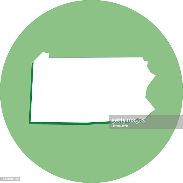 Pennsylvania Round Map Icon
