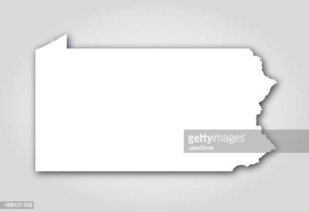 ilustrações de stock, clip art, desenhos animados e ícones de pensilvânia silhueta branca - 2015