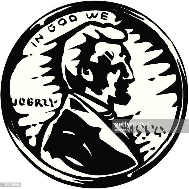 penny - us penny stock illustrations