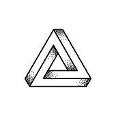 Penrose triangle illustration