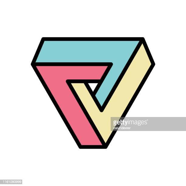 Triángulo de Penrose geometría imposible