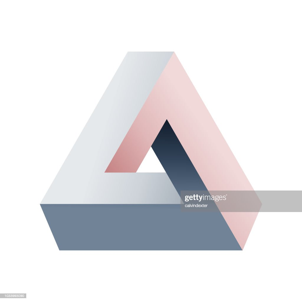 Penrose triangle : stock illustration