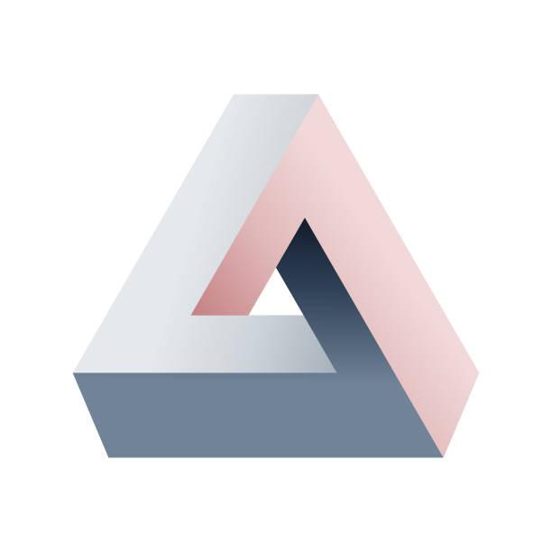 penrose triangle - fantasy stock illustrations