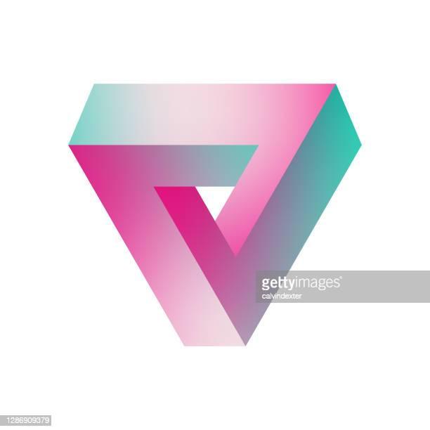 penrose-dreieck - geometriestunde stock-grafiken, -clipart, -cartoons und -symbole