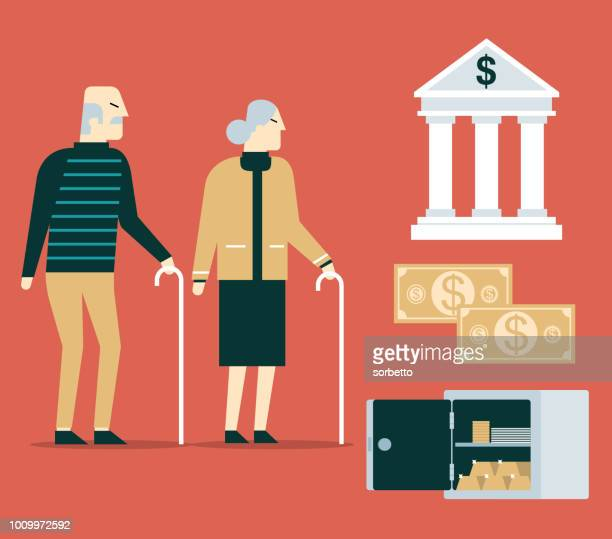 Pension fund concept - Grandparents