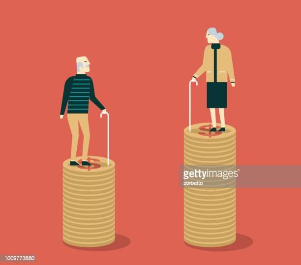 illustrations, cliparts, dessins animés et icônes de caisse de retraite. grands-parents - pièce - maison de retraite