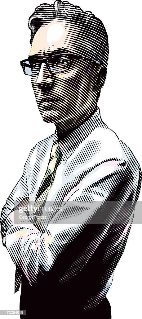 Hombre pensativo : Ilustración de stock