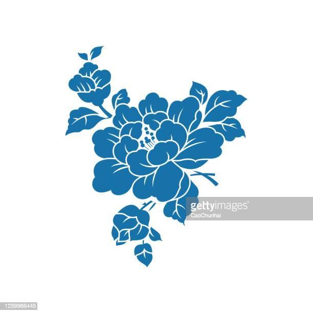 牡丹(中国製紙カットパターン) - 東洋文化点のイラスト素材/クリップアート素材/マンガ素材/アイコン素材