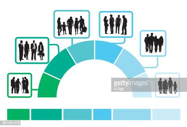 people aging infographics - young adult stock illustrations, clip art, cartoons, & icons