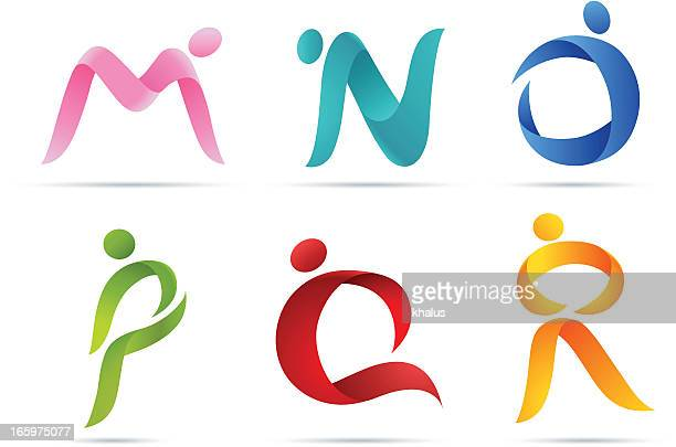 people alphabet - dancing stock illustrations, clip art, cartoons, & icons