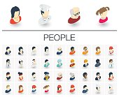People and Avatars isometric icons. 3d vector