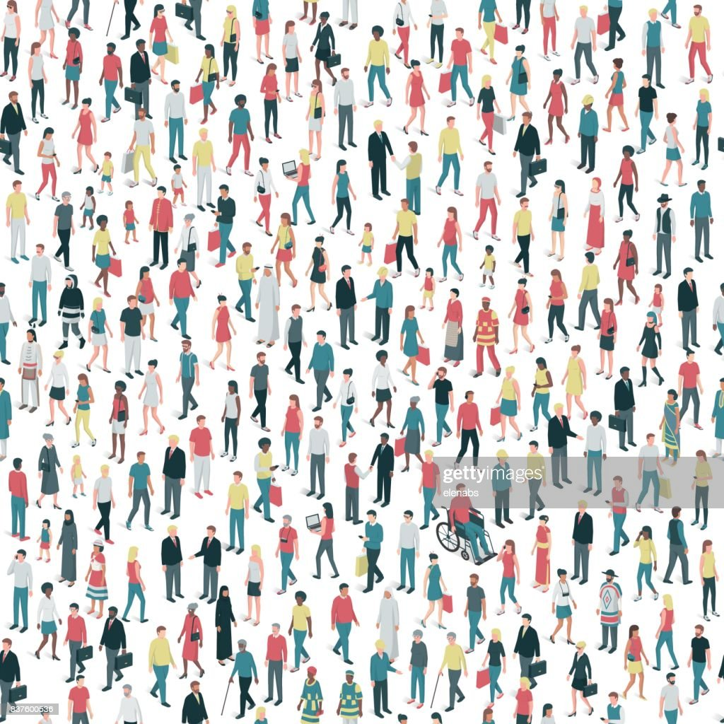 People and diversity seamless pattern