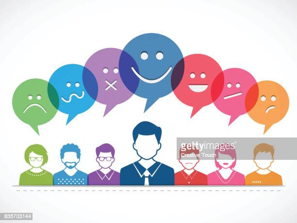 people and talking with emotions - emotion stock illustrations
