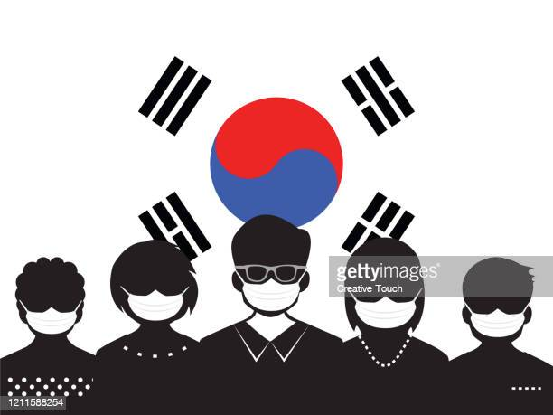 people and virus outbreak - south korea stock illustrations