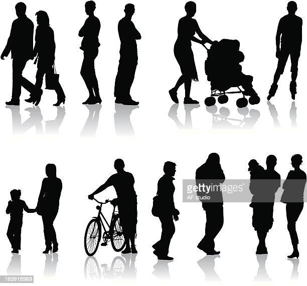 people around us - family cycling stock illustrations, clip art, cartoons, & icons
