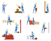 People at builder professions. Job and work