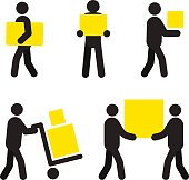 People at work icons