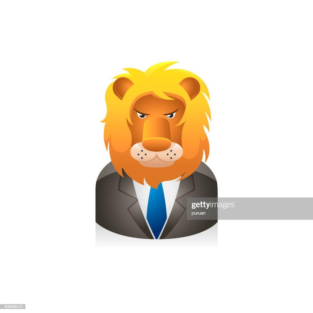 People Avatar Icons - Lion Businessman