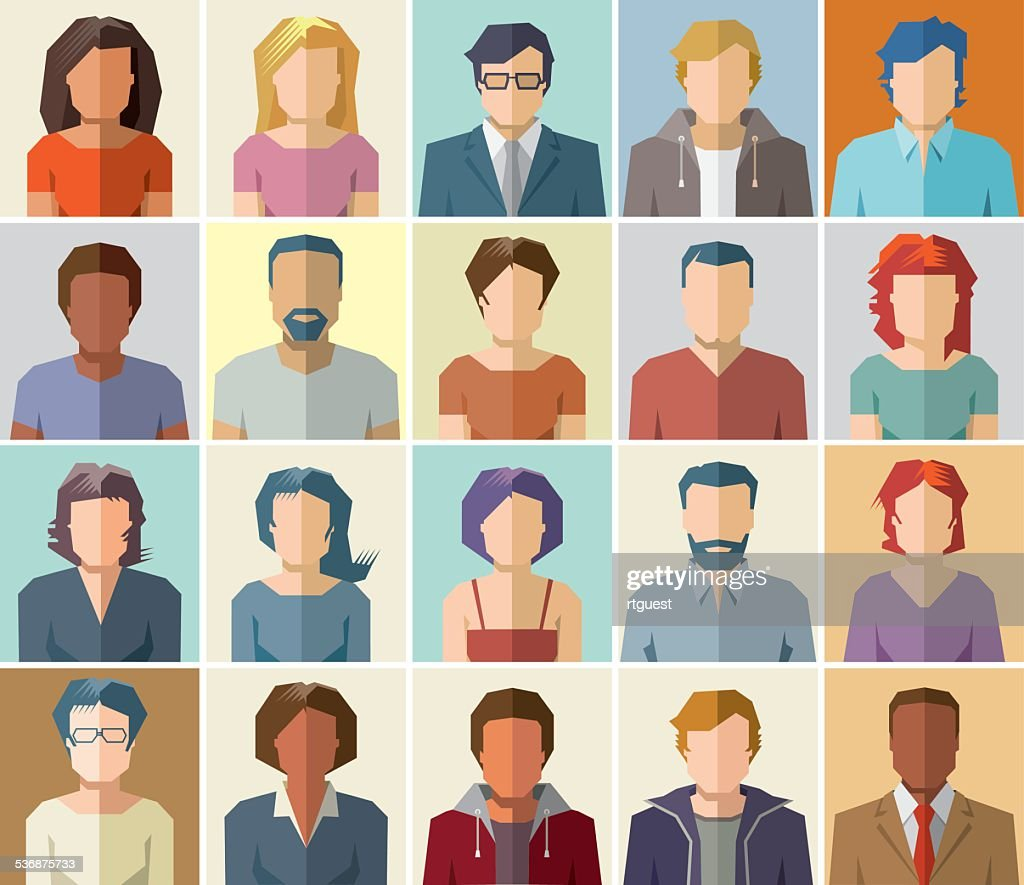 People avatar vector icons